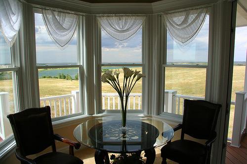 dining room window treatment photo - 2