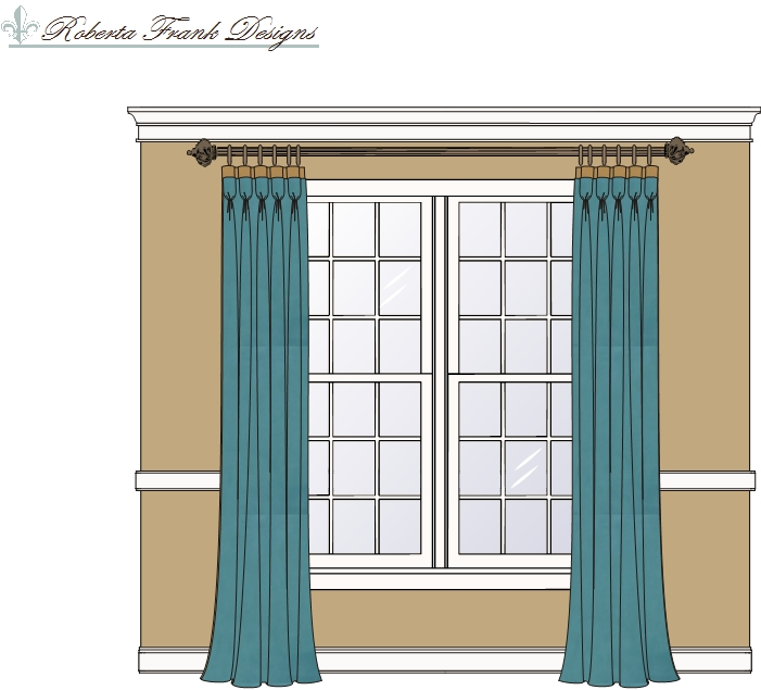 Window treatments traditional dining room atlanta by lady Dining room window curtains