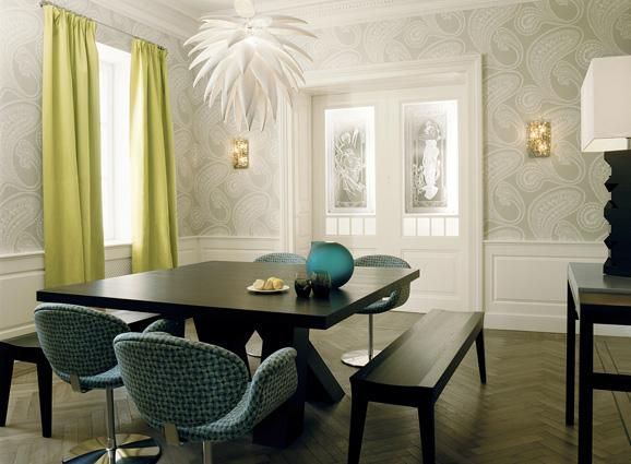 dining room with wainscoting photo - 2