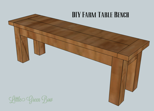 dining table bench plans photo - 2