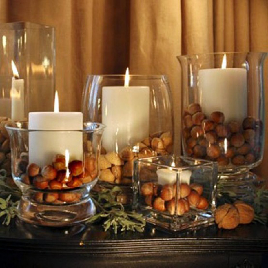 dining table candle centerpiece photo - 2