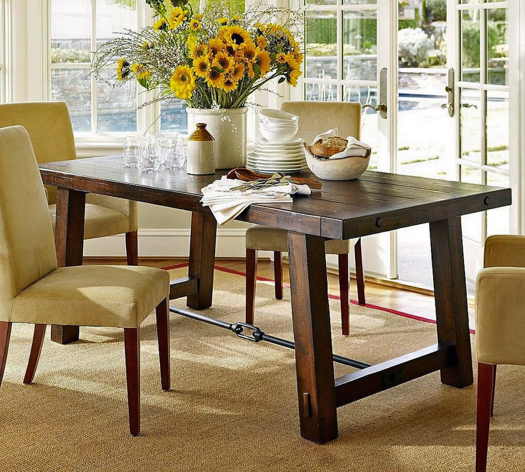 Dining table decorating ideas  large and beautiful photos Photo
