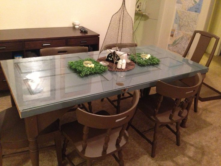 Dining Table Made From Old Door Photo