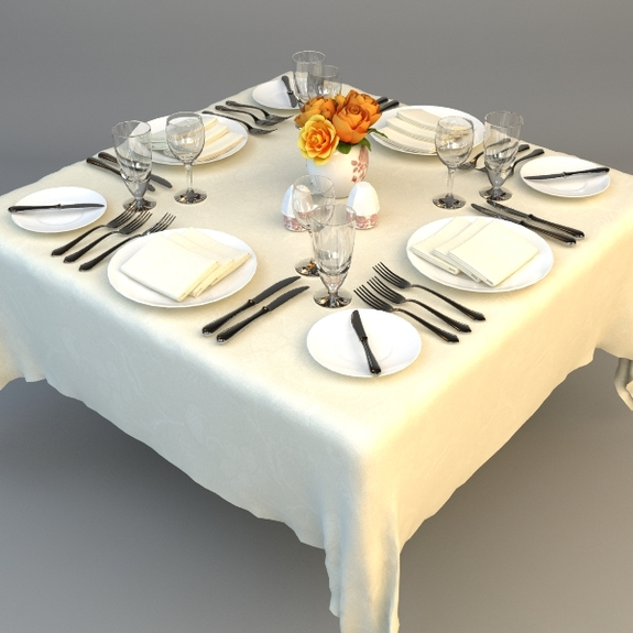 dining table place settings photo - 2