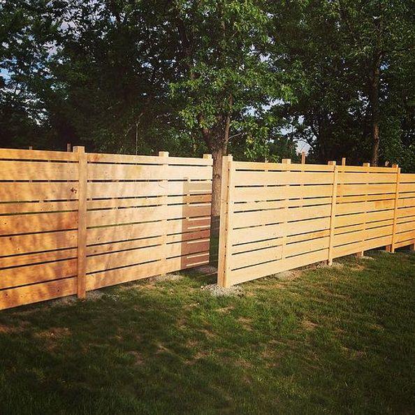 diy backyard fence photo - 1