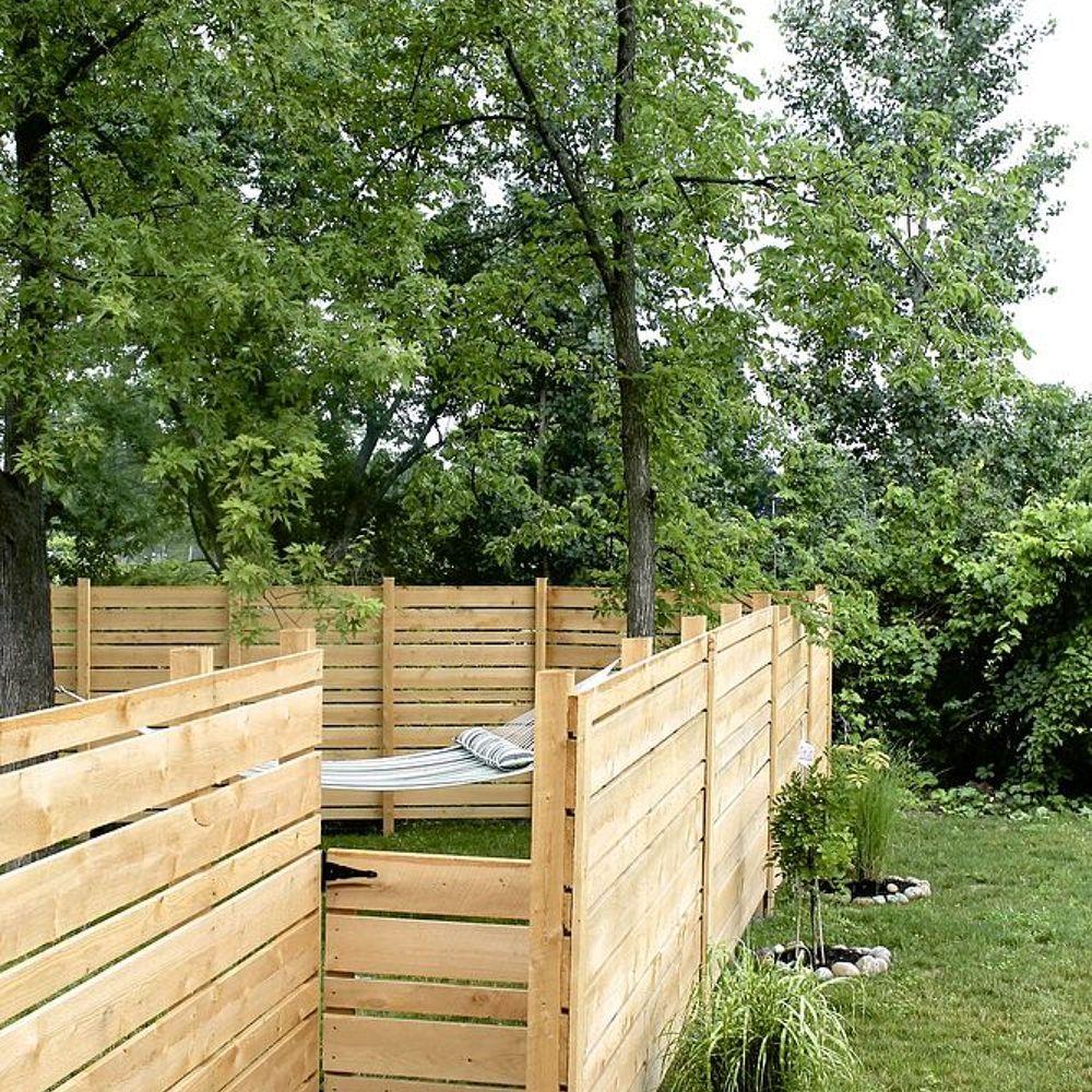 diy backyard fence photo - 2