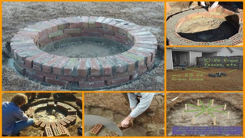 diy backyard fire pit photo - 2