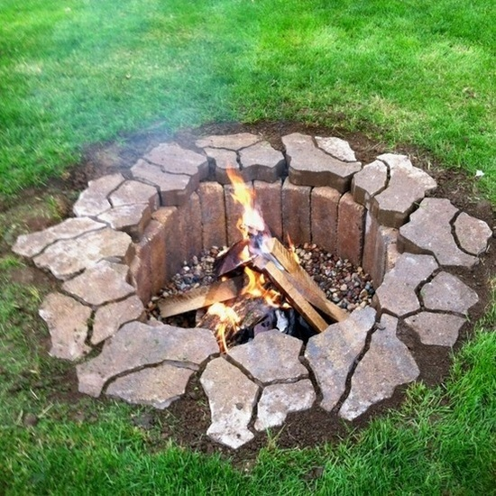 diy backyard fire pit ideas photo - 1