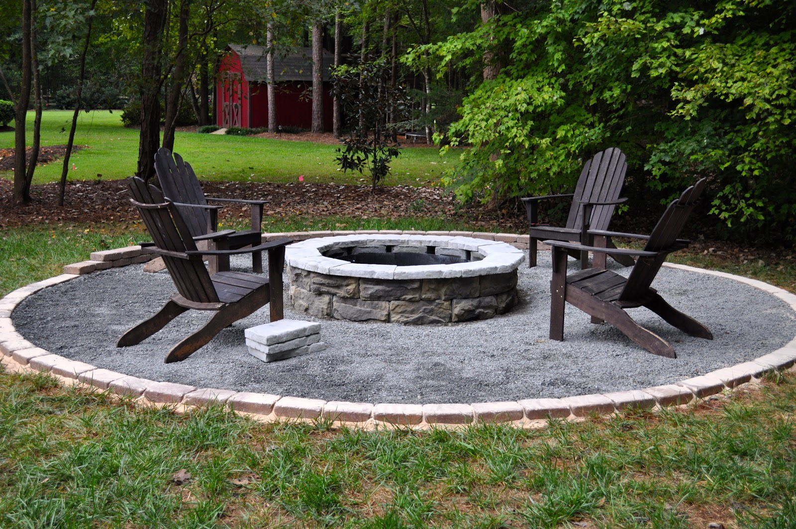diy backyard fire pit ideas photo - 2