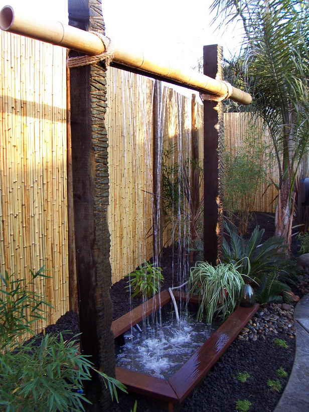 diy backyard water feature photo - 1