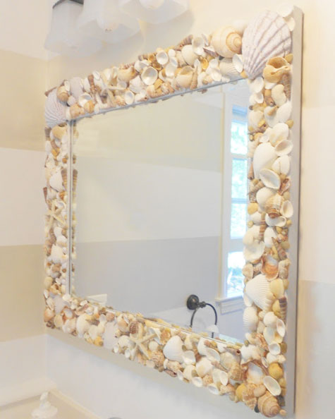 diy bathroom mirror frame ideas photo - 1