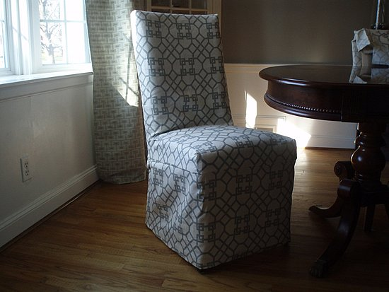 diy dining room chair covers photo - 2