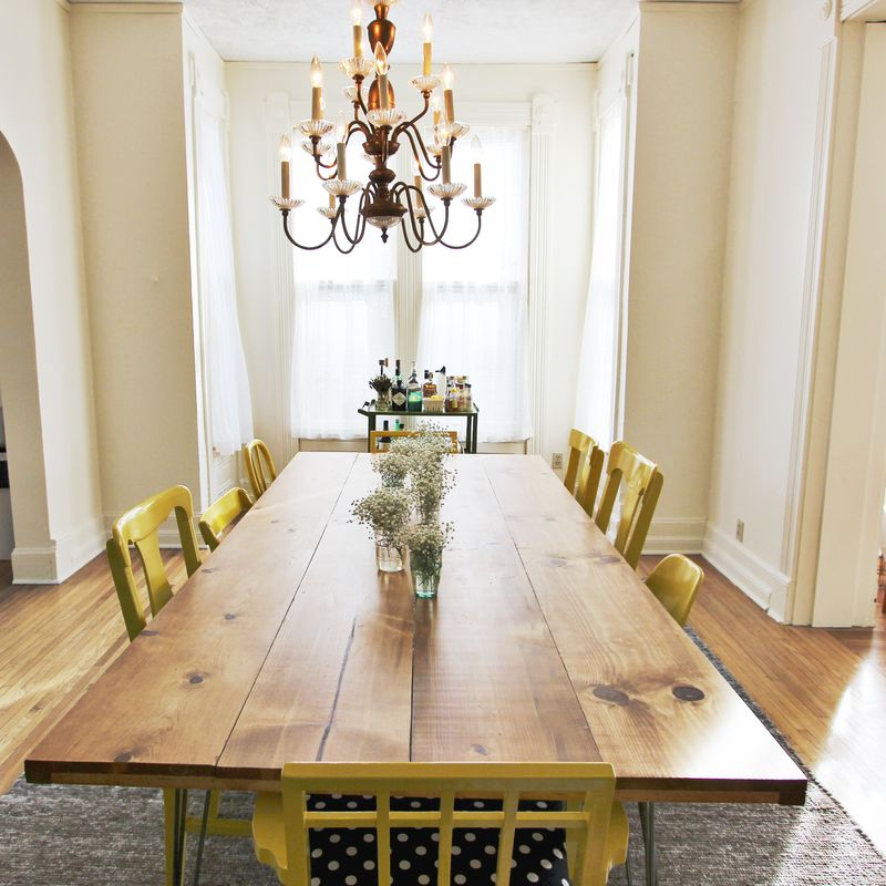 diy dining room table photo - 2