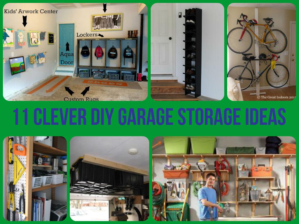 diy garage storage shelves photo - 1