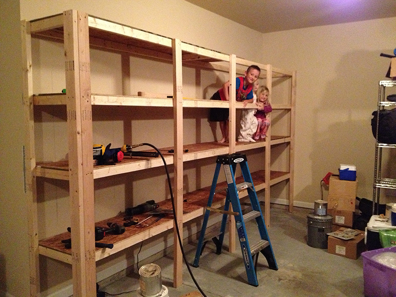 diy garage storage shelves photo - 2