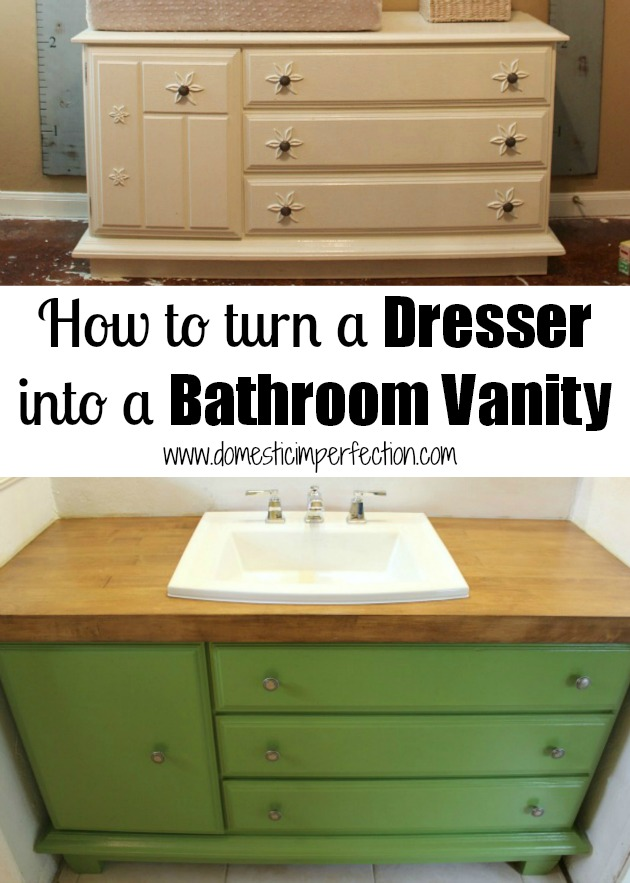 Dresser bathroom vanity large and beautiful photos for Turning a dresser into a bathroom vanity