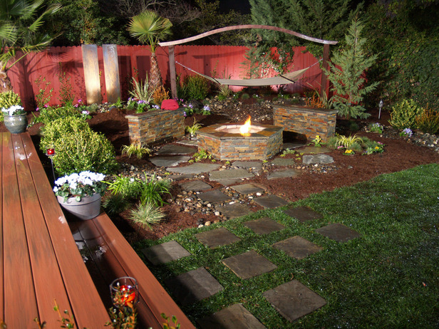 easy backyard fire pit designs photo - 2