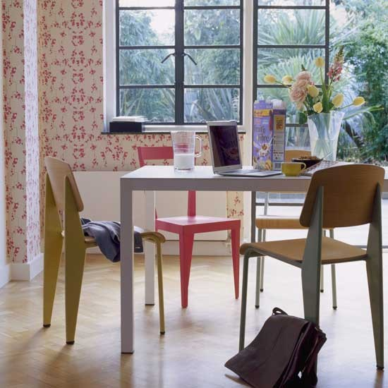 Eclectic Dining Room Chairs Photo