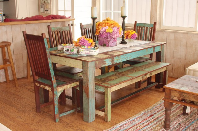 eclectic dining room tables - Colorful Dining Room Tables