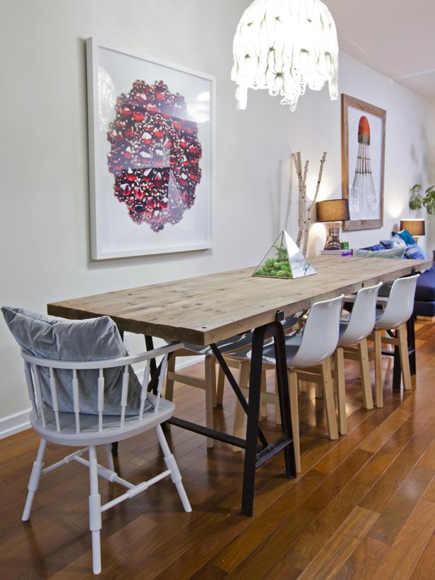 Eclectic Dining Room Tables Photo