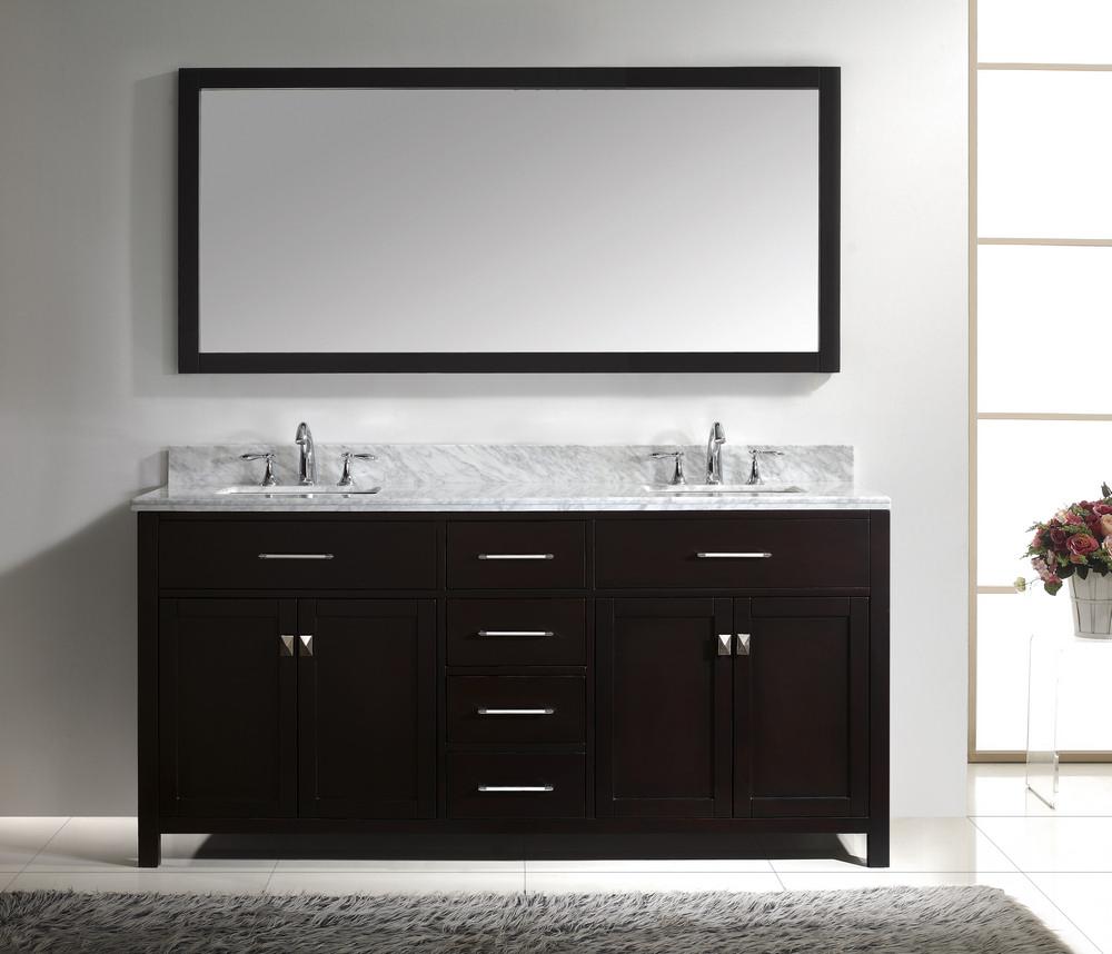 espresso bathroom vanity photo - 1