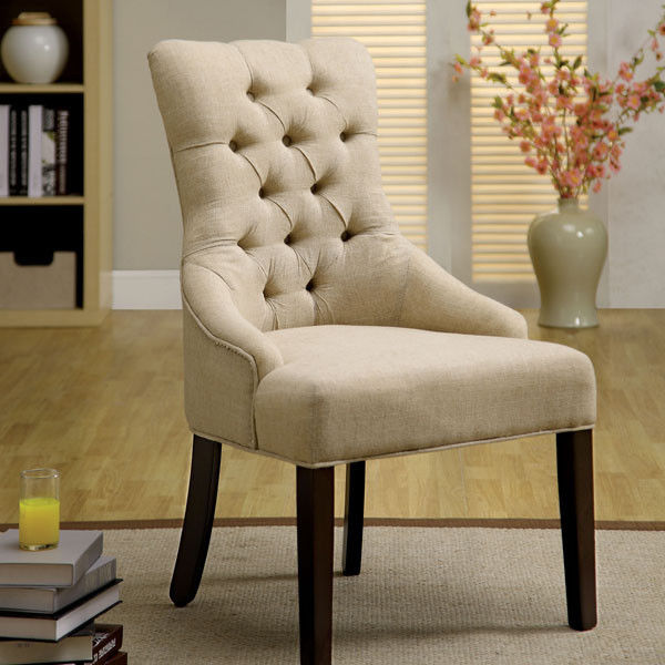 fabric chairs for dining room photo - 1