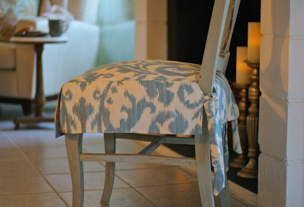 fabric seat covers for dining chairs photo - 2