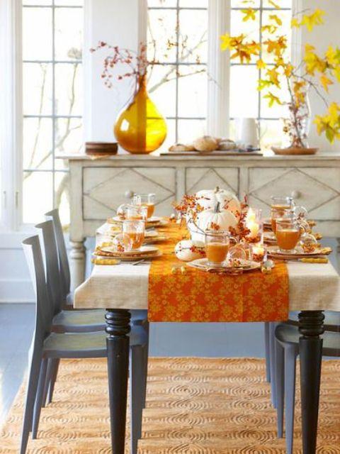 fall dining room decor photo - 1