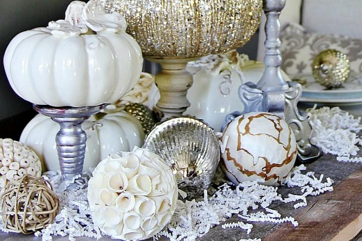 fall dining room decor photo - 2