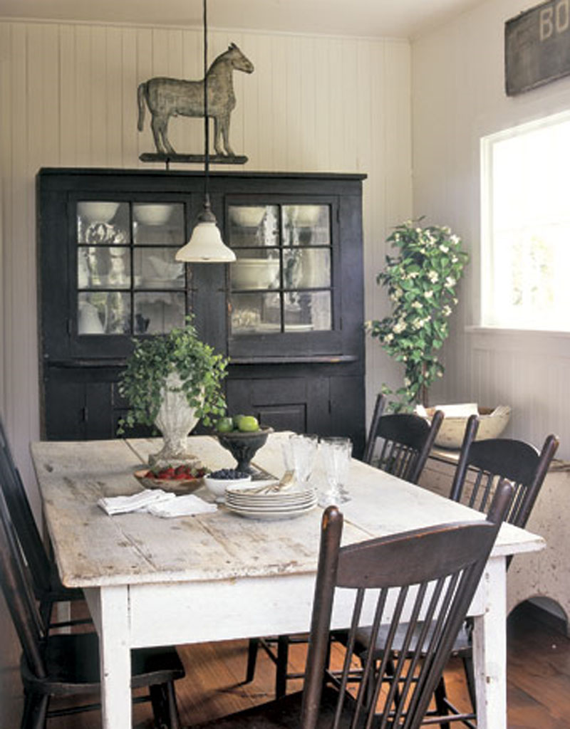 Black farmhouse chairs - Farmhouse Dining Room Ideas Large And Beautiful Photos Photo To