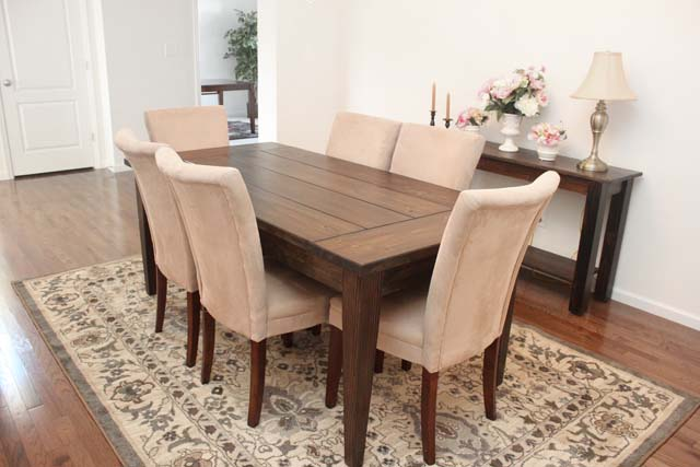 Farmhouse dining room table - large and beautiful photos. Photo to ...