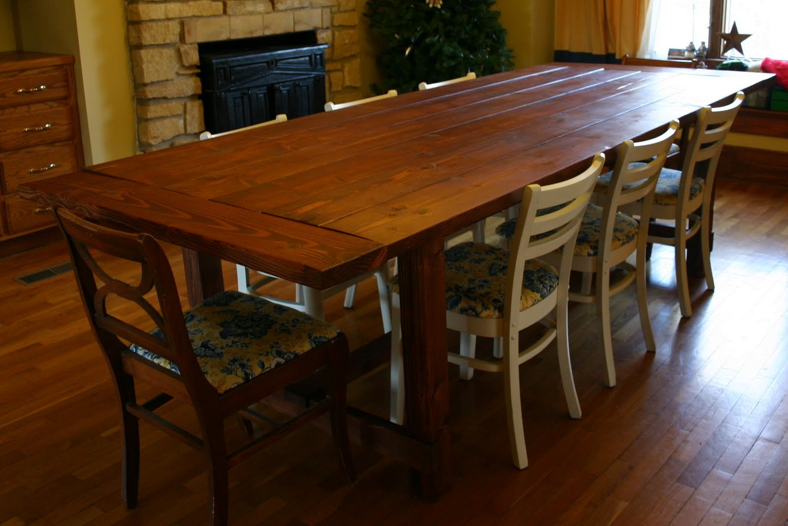 farmhouse dining room table plans photo - 1