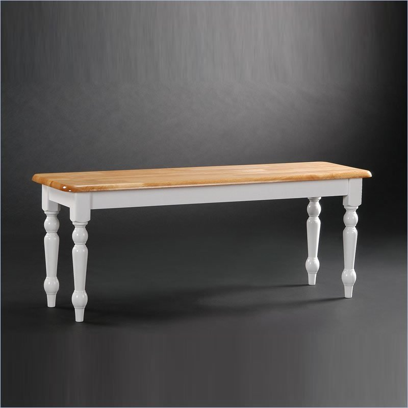 farmhouse dining table with bench photo - 1