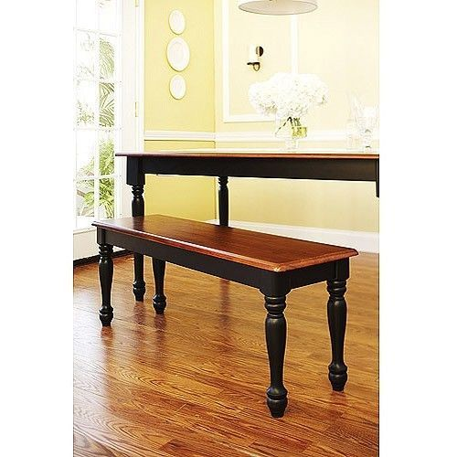 farmhouse dining table with bench photo - 2