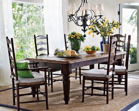 farmhouse style dining room photo - 2