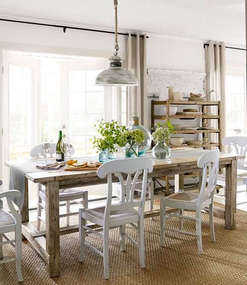 Farmhouse table dining room - large and beautiful photos. Photo to ...