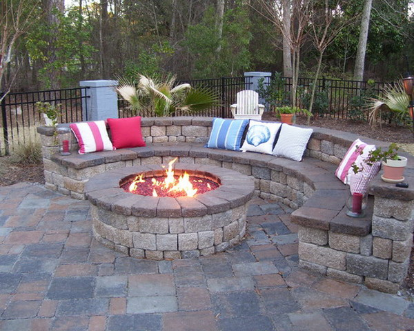 fire pit designs for backyard photo - 1