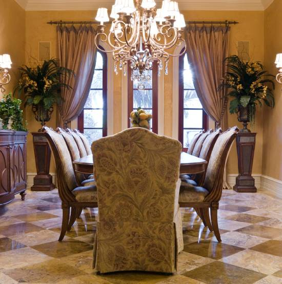 formal dining room curtains photo - 1
