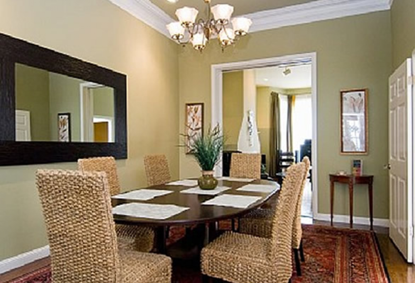 Formal dining room wall decor - large and beautiful photos. Photo ...