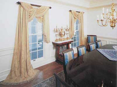 Formal dining room window treatments large and beautiful for Formal dining room window treatments