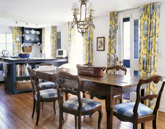 french country dining room decor photo - 1