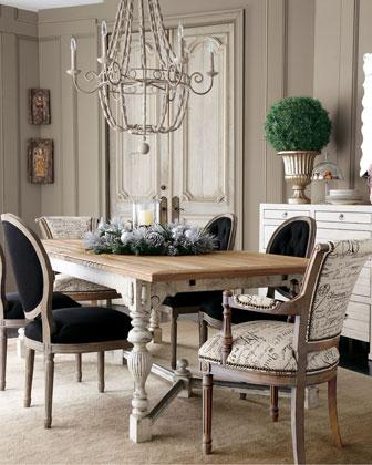 French style dining room - large and beautiful photos. Photo to ...