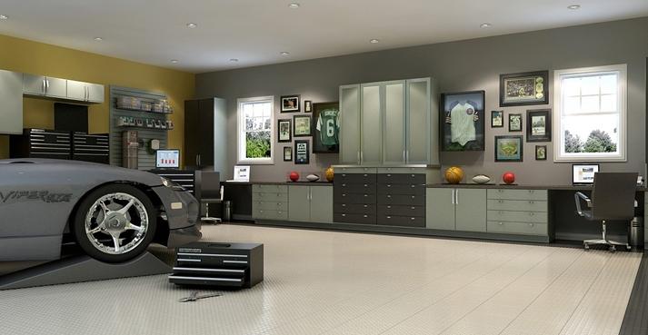 Garage closets design large and beautiful photos photo for Custom garage design
