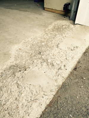 garage floor crack repair photo - 1