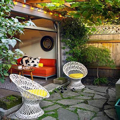 garage into a room photo - 2