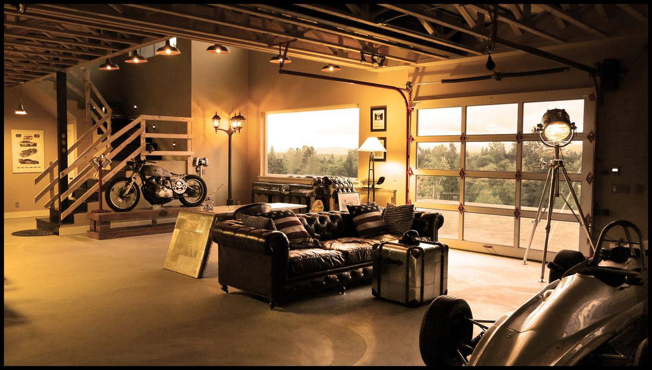 Garage living room large and beautiful photos photo to for Garage designs with living space