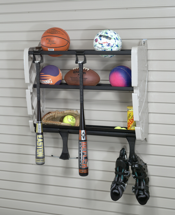 garage sports equipment storage photo - 2