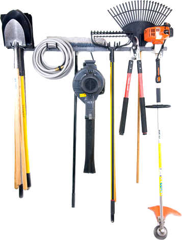 garden tool racks for garage photo - 2