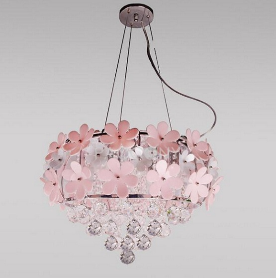 girls bedroom chandelier photo - 2