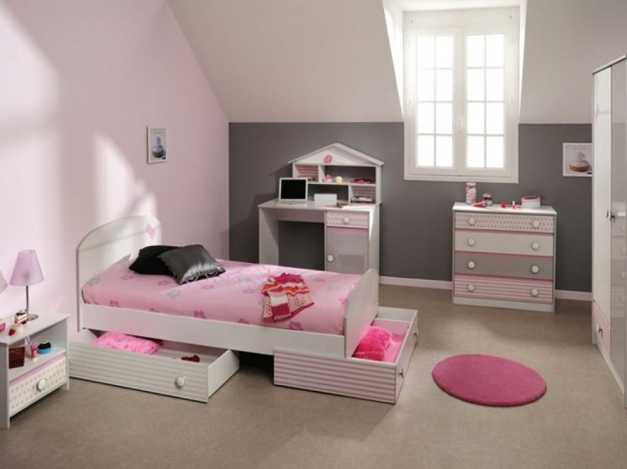 girls bedroom storage photo - 2